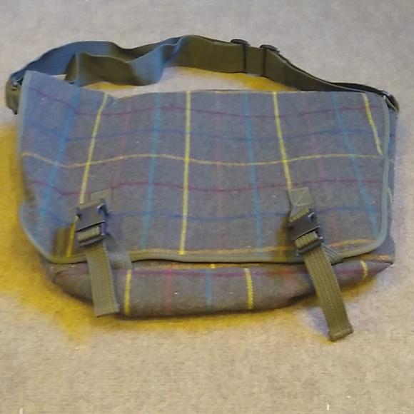 RARE J. Crew Plaid Messenger Bag
